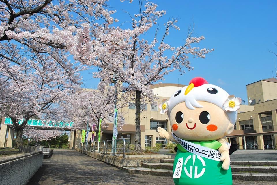 행사장에는 쓰루타마치 마스코트 캐릭터・쓰루린도 있습니다.